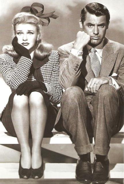 1942 年,影星 Cary Grant 與 Ginger Rogers