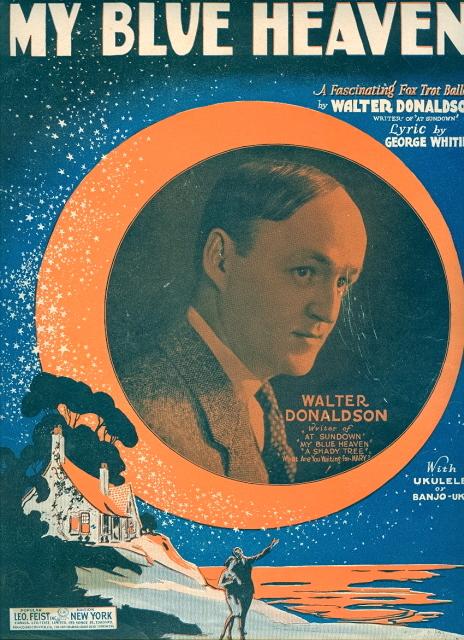 〈 My Blue Heaven(我的藍色天堂)〉樂譜封面(1927),圖片來源: Songbook