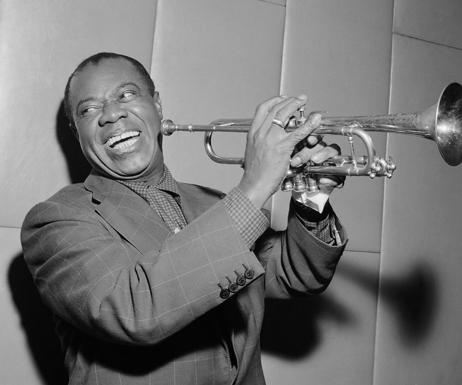 Louis Armstrong, ( via   The Famous People )