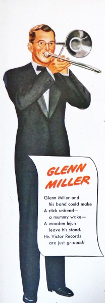 40 年代 Glenn Miller 唱片廣告 ( via   Community Swing )