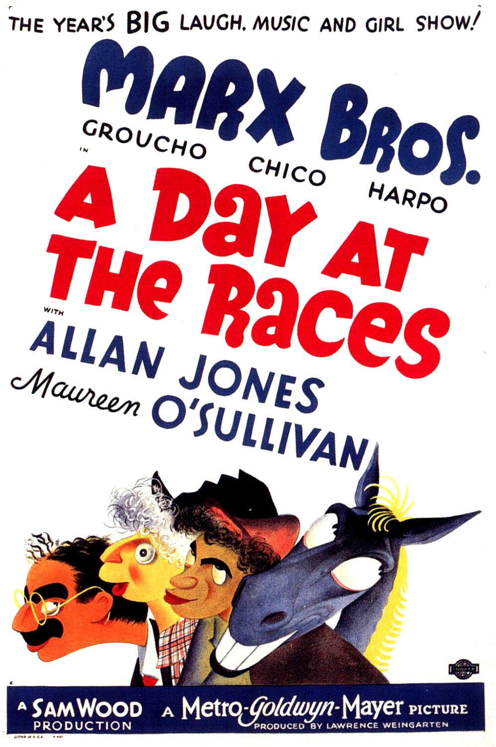 《A Day a the Races》電影海報。影片中有 Whitey's Lindy Hoppers 首次登上大銀幕的演出 ( via   Wiki )