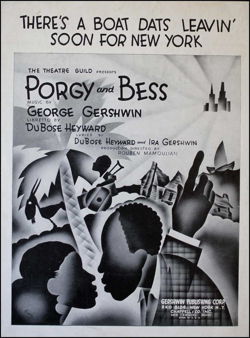 《Porgy and Bess》海報,1935( via   Figure Skating Encyclopedia )