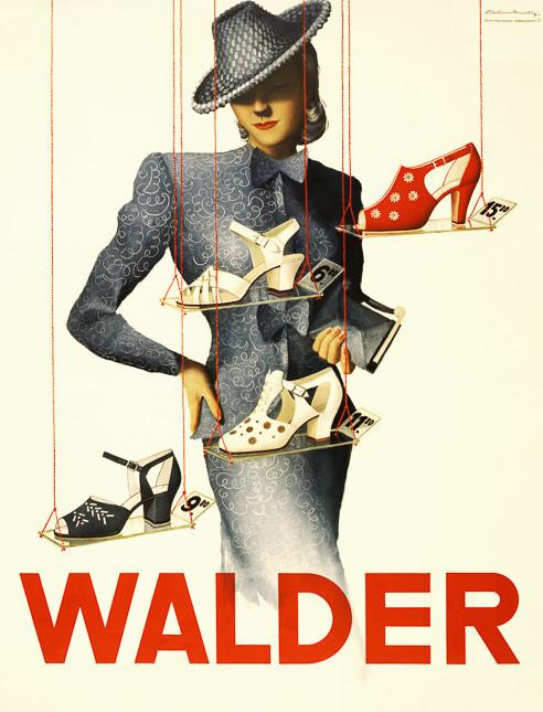 1950 年代鞋子廣告( via   Vintagraph )
