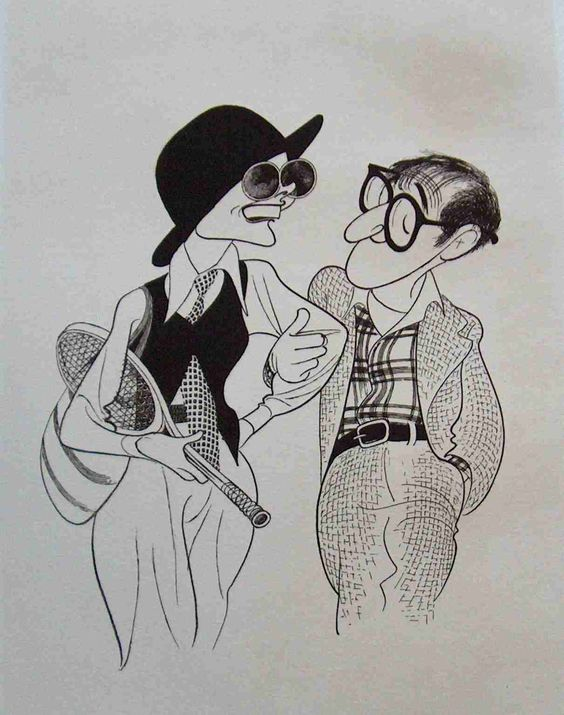 Al Hirschfeld 所繪的漫畫版 Diane Keaton 與 Woody Allen ( via   Pinterest )