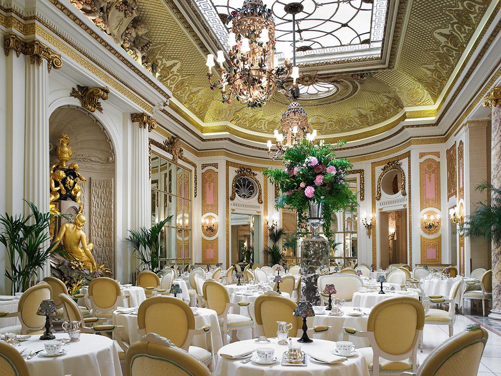 倫敦麗池飯店華麗的 Palm Court 下午茶室( via :  The Ritz London )