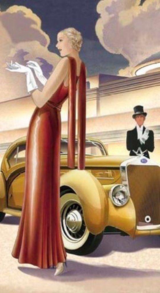 1930 年代時尚插圖( via :  Pinterest )