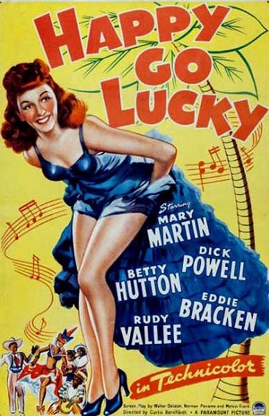 1943 音樂劇影片《Happy Go Lucky( 無憂無慮)》