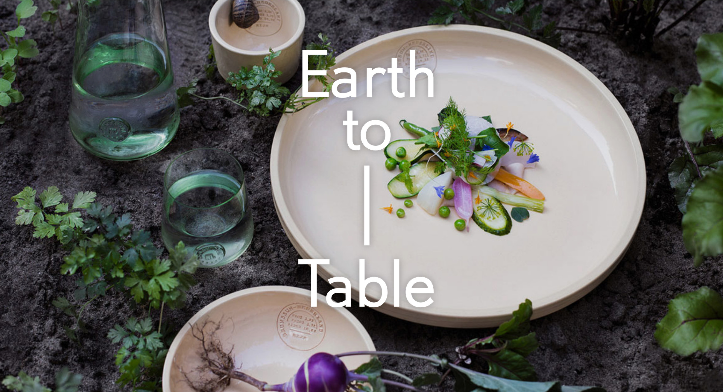 Earth to Table Invitations : Dutch Cuisine asked me to create formal invitations and culinary event titles in English for a series of special dining events during Dutch Design Week 2016. The series was called  Earth to Table  and occurred at various locations in Eindhoven, the Netherlands. The Dutch content on the site is a translation of my original English content. Invitations were also sent out by email. This was part of a larger project that included the creation and curation of content for billboards, press releases, media sources, and the Dutch Design Week website. Parties involved included Mattmo Creative in Amsterdam, Dutch Cuisine, Onkruidenier, Atelier NL, and (H)eerlijk Anders.