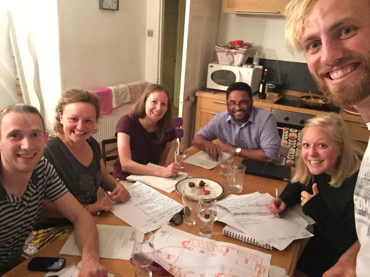 From left to right:Chris Boddy (UK director),Megan Walters (Co-founder),Laura Richards (Treasurer),Danny John (Trustee),Laura Harris (Trustee & Events Co-ordinater),Mark Walters (Co-founder and Chair).Missing from the photo:Chris Collier (Secretary) and Martin Harris (Trustee)