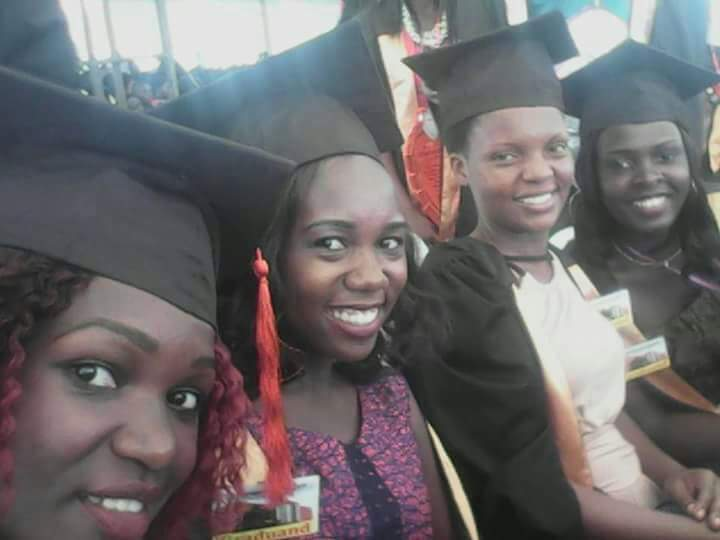 Linnet (second from right) at her graduation