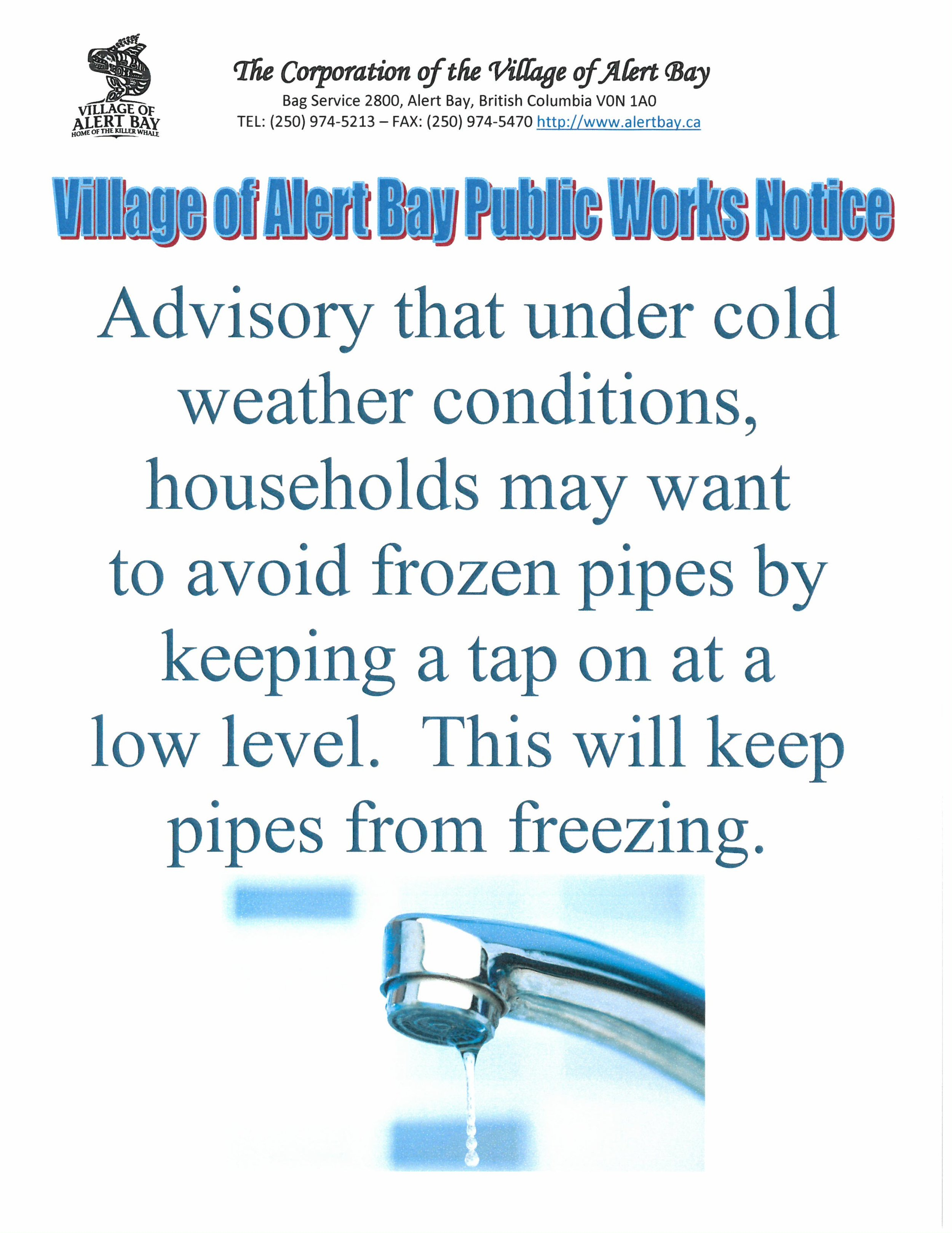 Publice Works Poster February 11, 2019 Tap Water.jpg