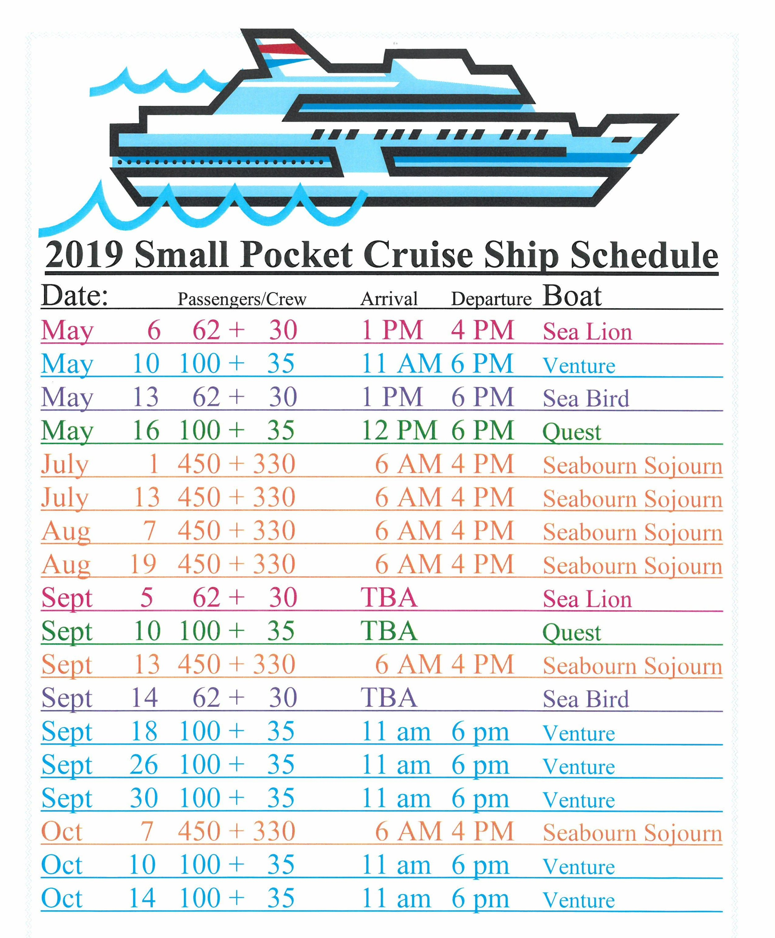 2019 Small Pocket Cruise Ship Schedule.jpg