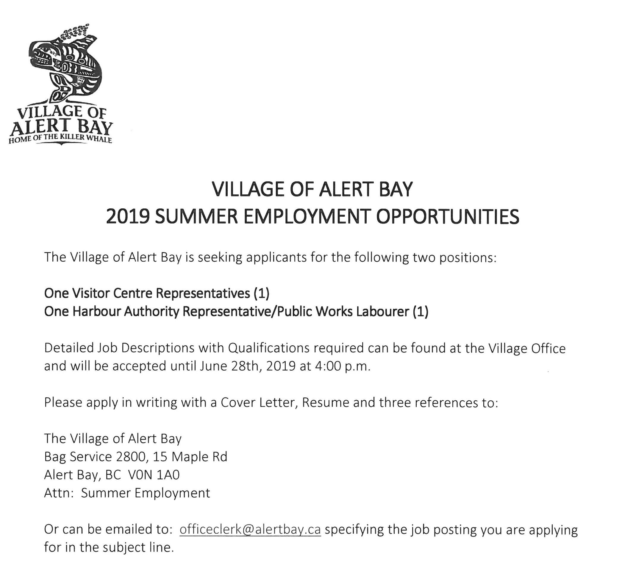 Village of Alert Bay Summer Student Posting 2019.jpg