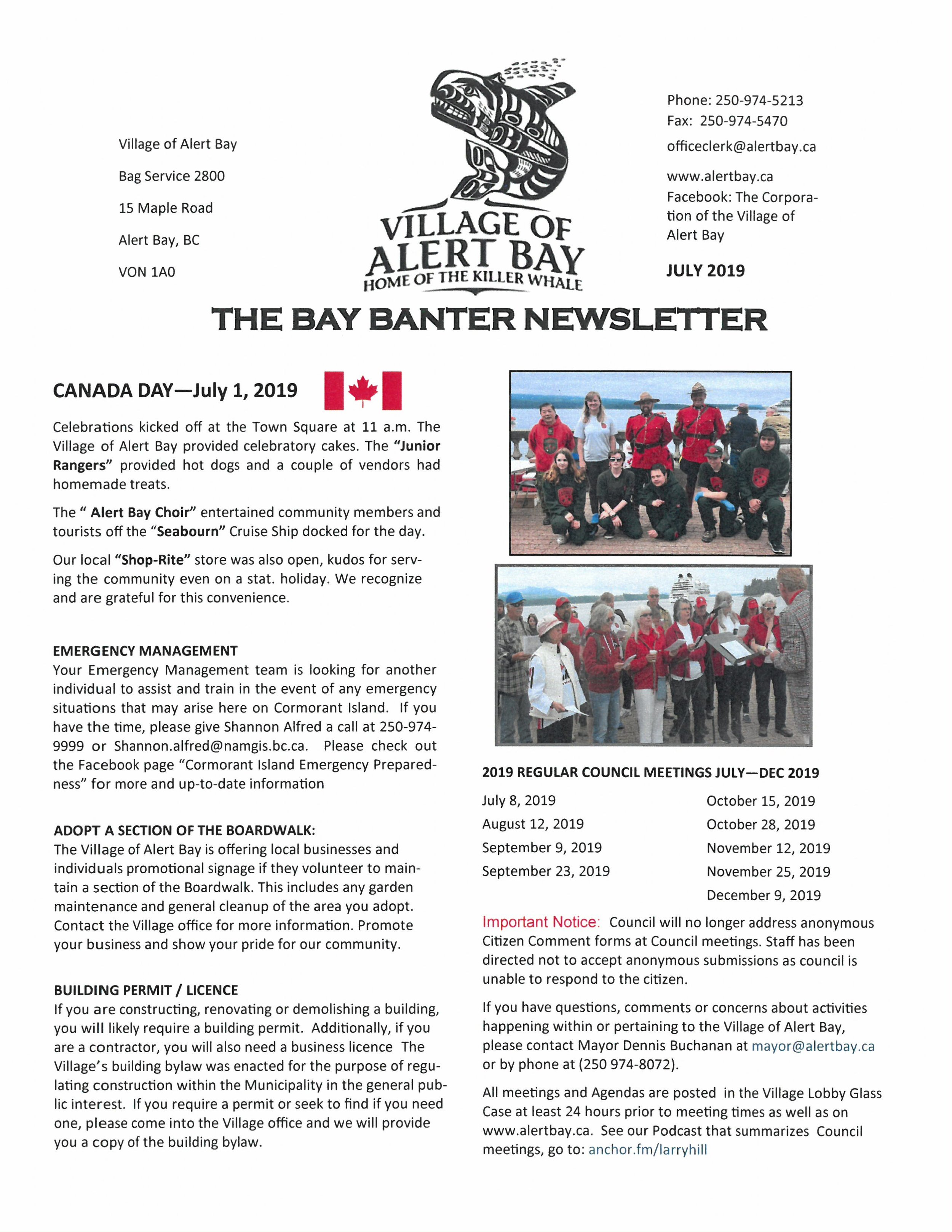 The Bay Banter Newletter July 2019 page 1.jpg
