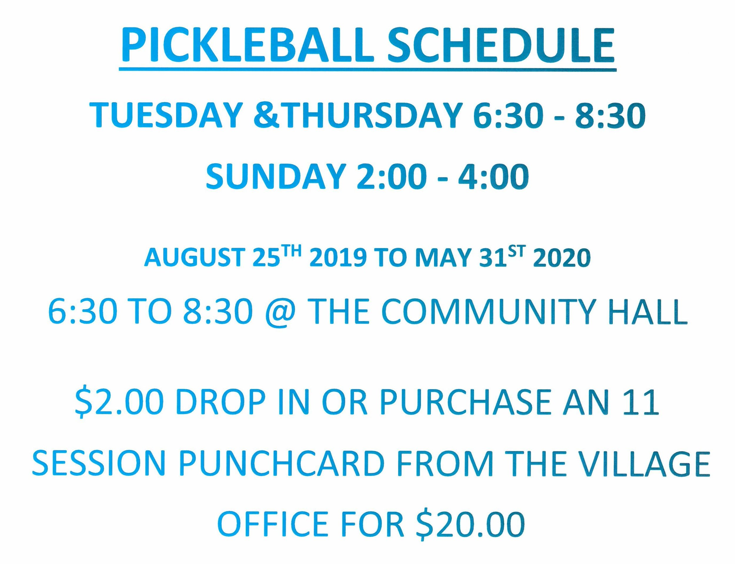 Pickle Ball Poster August 25 2019 to May 31 2020.jpg