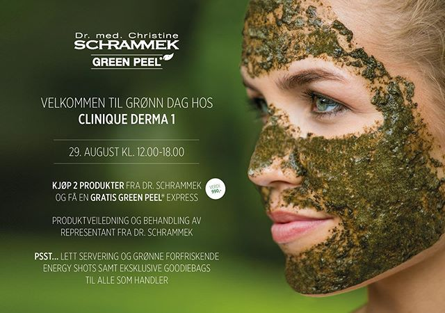 💚Hva med en GRATIS Green Peel Express behandling ved kjøp av to fantastiske produkter fra serien som gjør huden din godt? Alle kan trenge en detox, fukt og ny glød etter sommer og sol. Sikre deg time denne dagen 💚 #drschrammek #schrammek #greenpeel #holisticskintherapy #greenliving #detox #skincare #naturalbeautycare #medicalskincare #dermatologist #greenpeelevent #goodiebags #greenpeelnorway #cliniquederma1 #skien