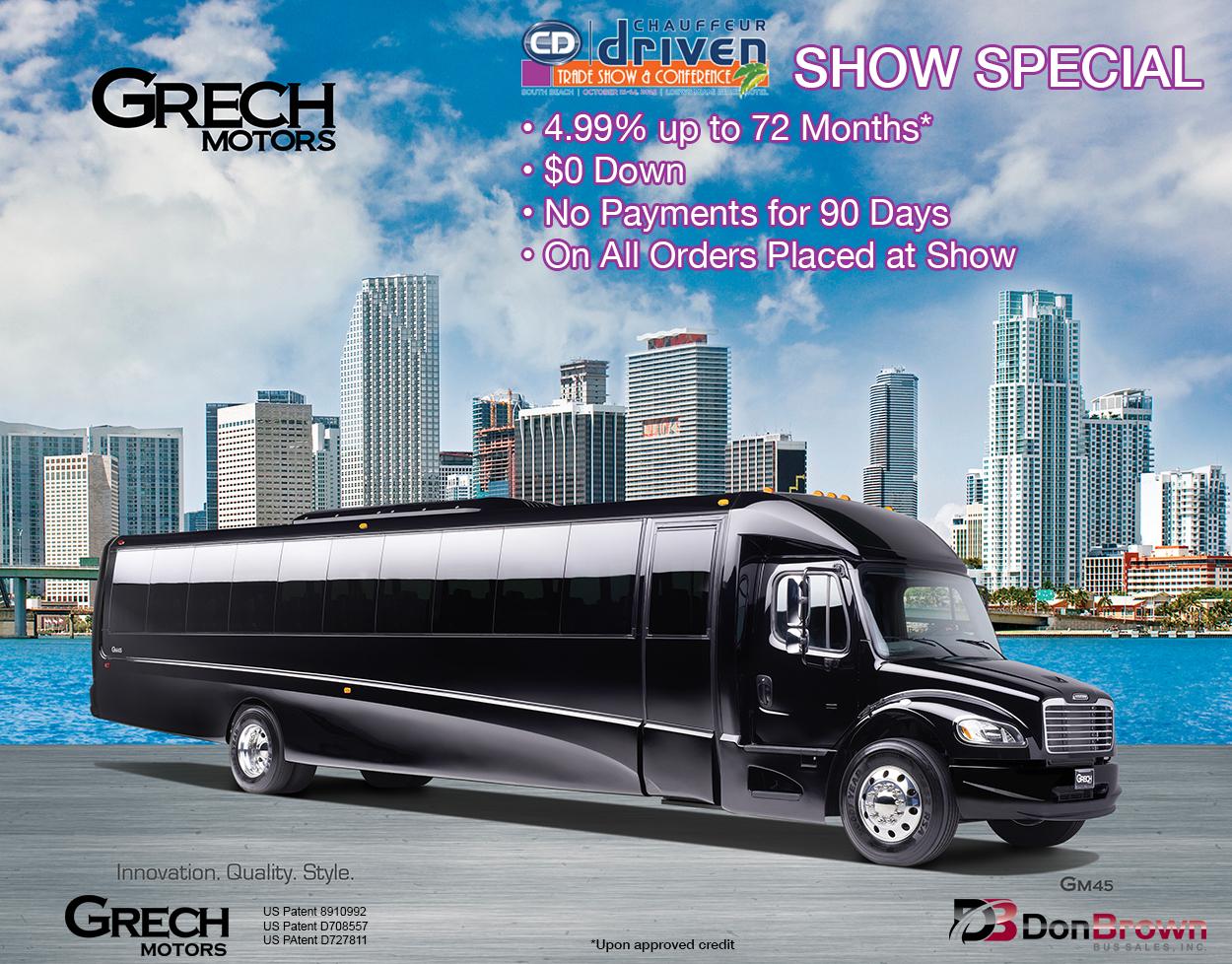Grech Motors GM40 Chauffeur Driven Show Special Miami 2015