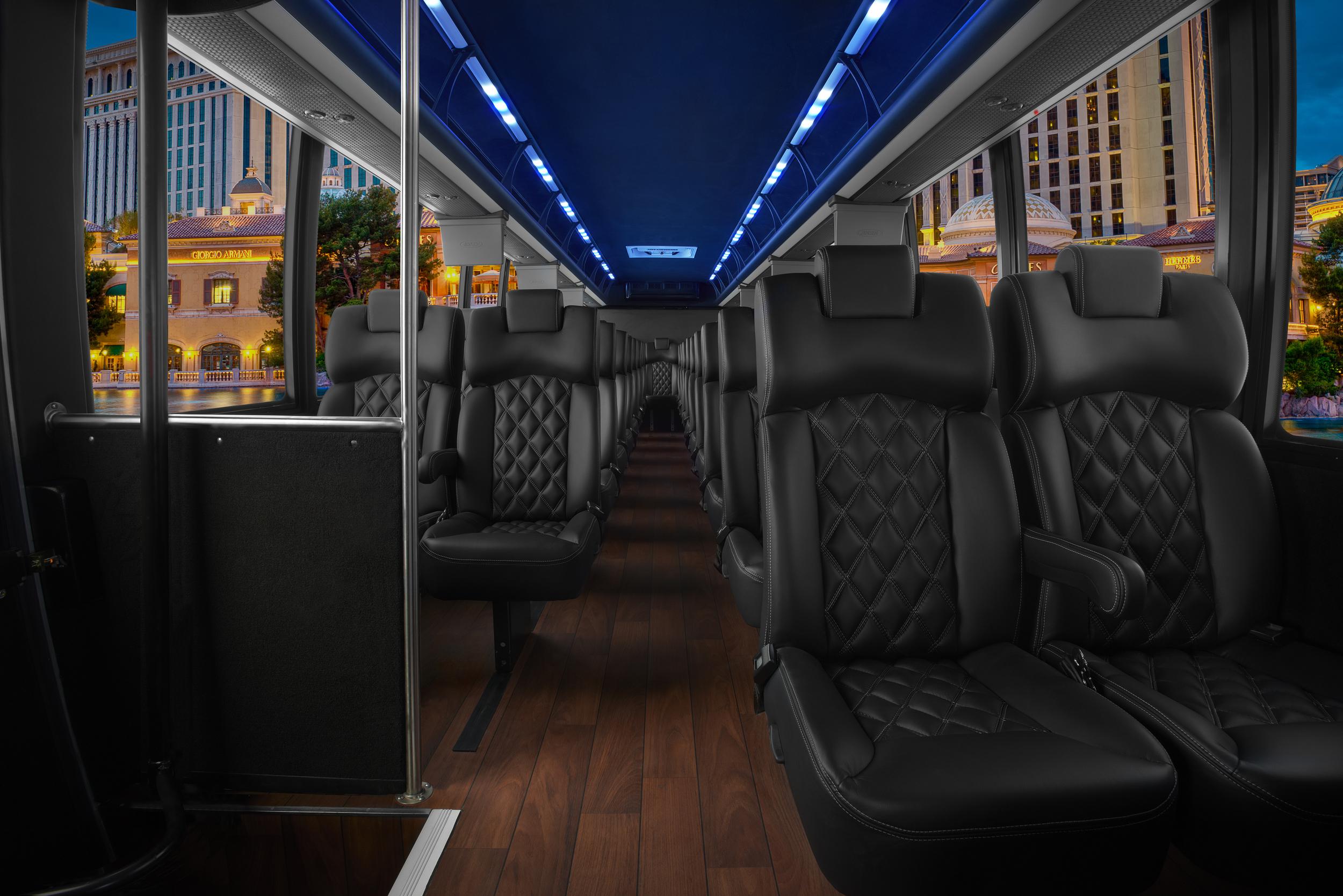 Grech Motors GM40 Freightliner interior - Premier Seats