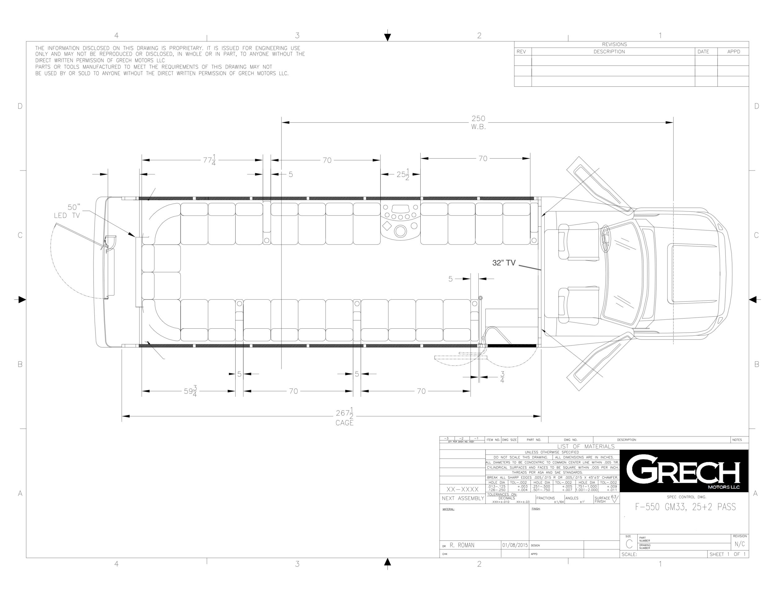 F-550 GM33 25+2,1 Bar, Limo Bus