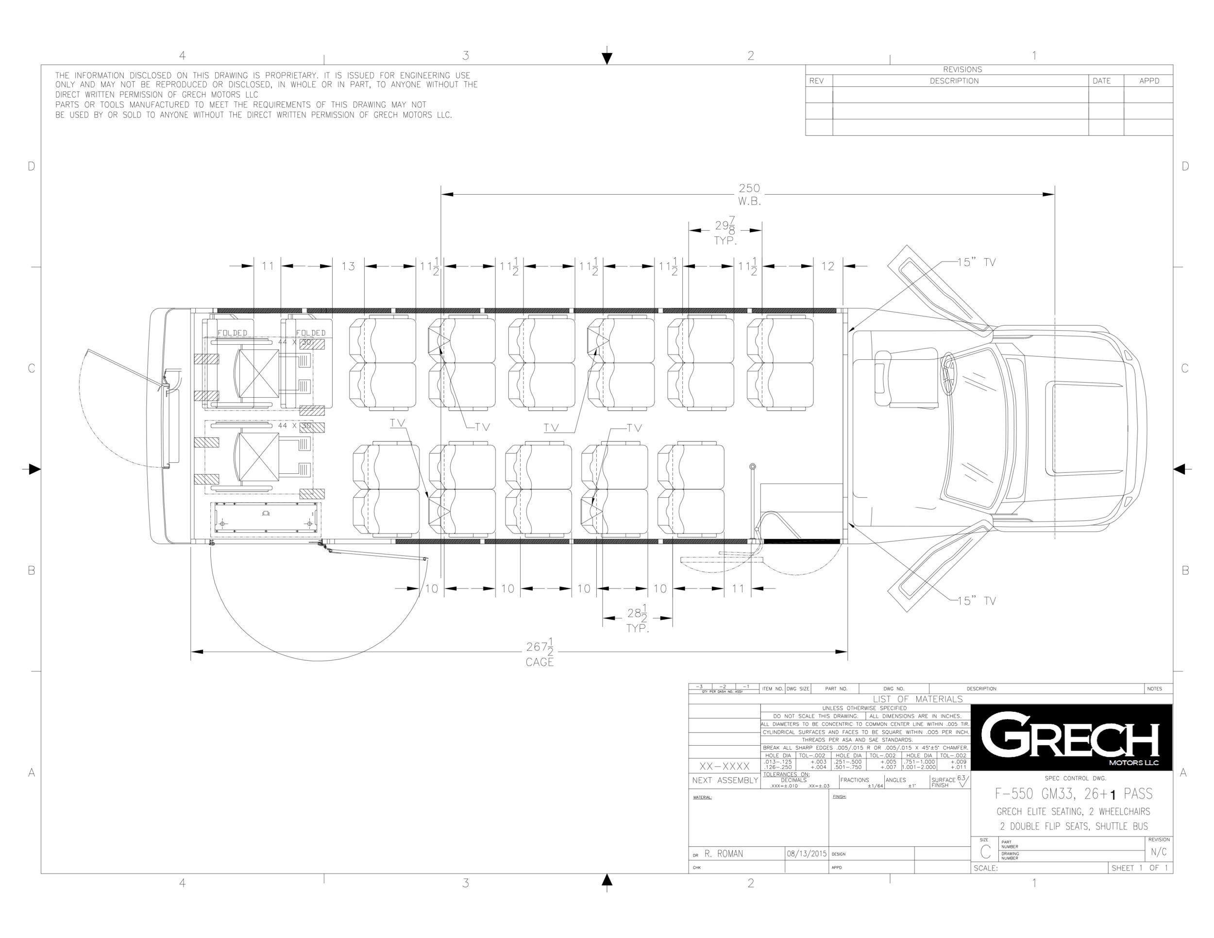 F-550 GM33 26+1, Grech Seating Seats, 2 Wheelchair, 2 DB Flip Seats, No Lug., Shuttle copy 2