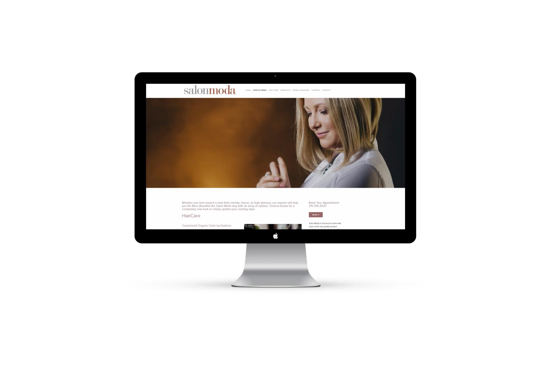Hair salon website design