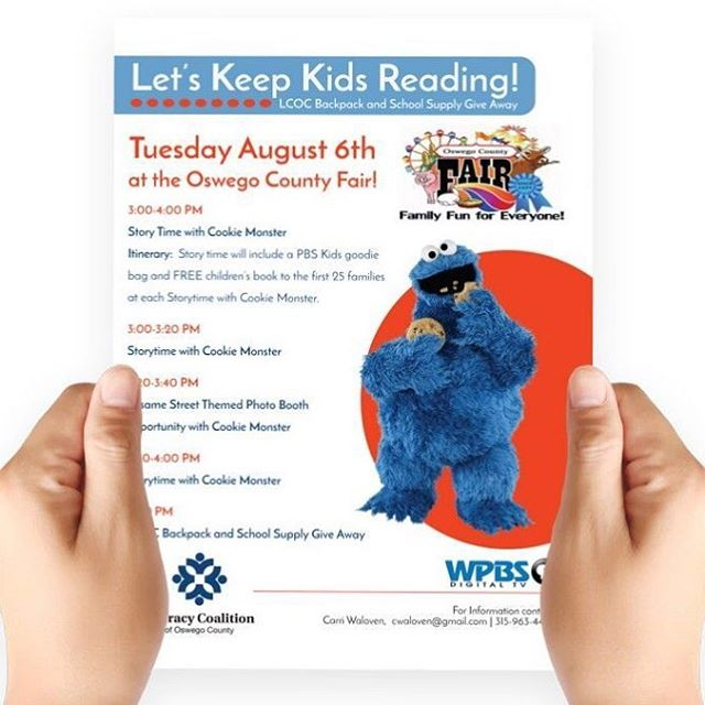 In collaboration with Chirello Advertising, I whipped up a flyer for the READ event to be held at the #oswegocountyfair this coming August 6th.  A great event for the kids sponsored by the Literacy Coalition of Oswego County and WPBS TV. #printdesign #graphicdesign #315designs