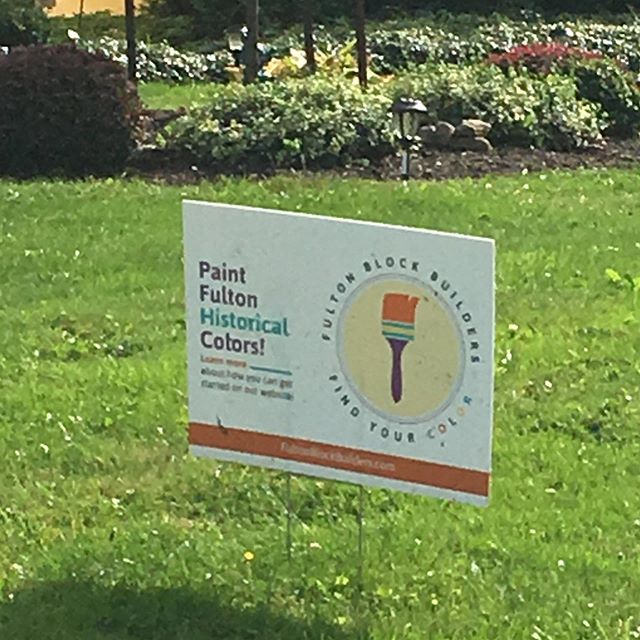 Love seeing our designs in action.  Logo and lawn sign design for the Fulton Block Builders, Paint Fulton Program.  #logodesign #graphicdesigner #branding #315designs