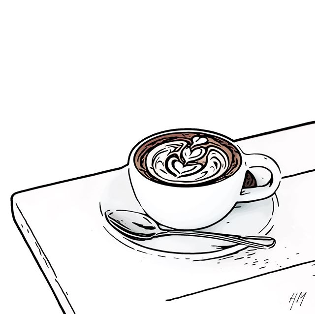Monday equals coffee.  Lots 'O coffee. #illustration #graphicdesigner #coffee #syracuseny