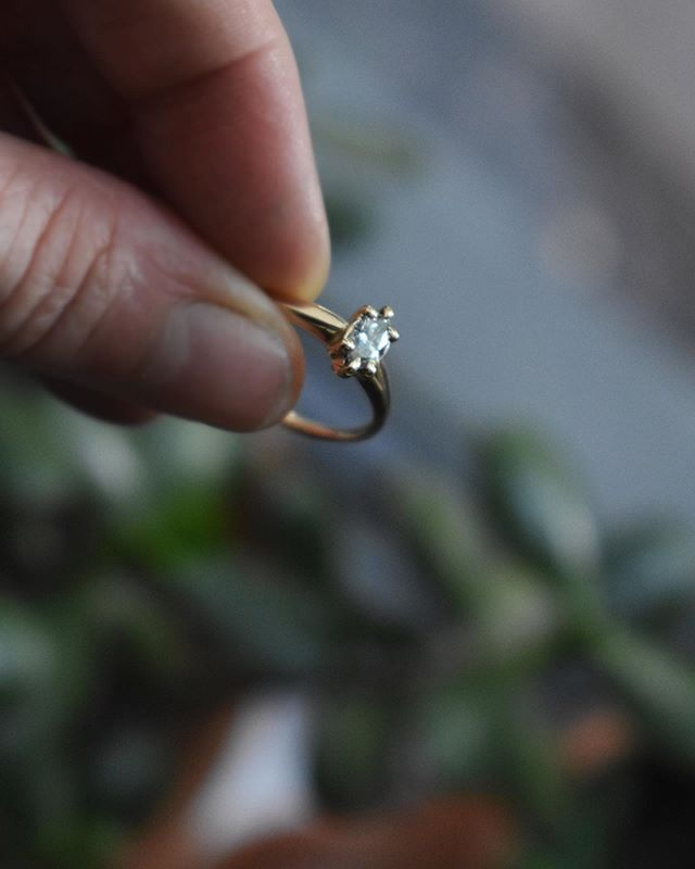Custom work with one of my favorite diamond shapes: the Marquise.