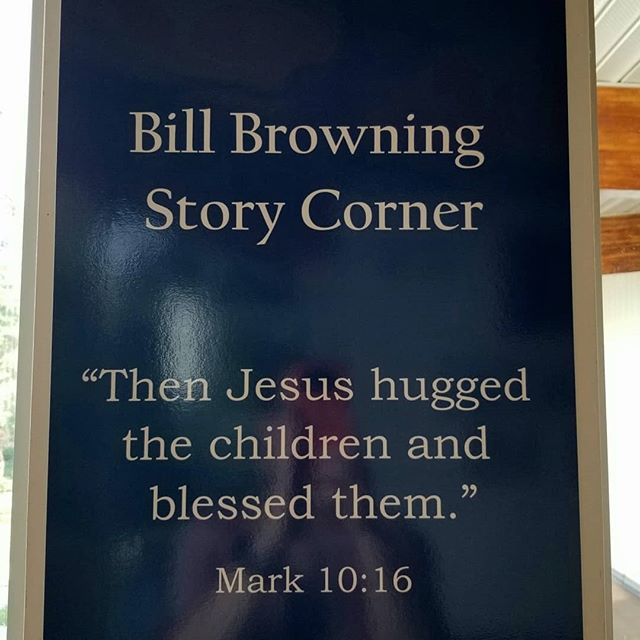 We dedicated our new Bill Browning Story Corner this past Sunday. Mr. Browning dedicated his entire life supporting and teaching children and youth.  We pray that this area will provide safety and love to many generations of young people to come.  #celebratingchildrenandyouth  #celebratingalleducators