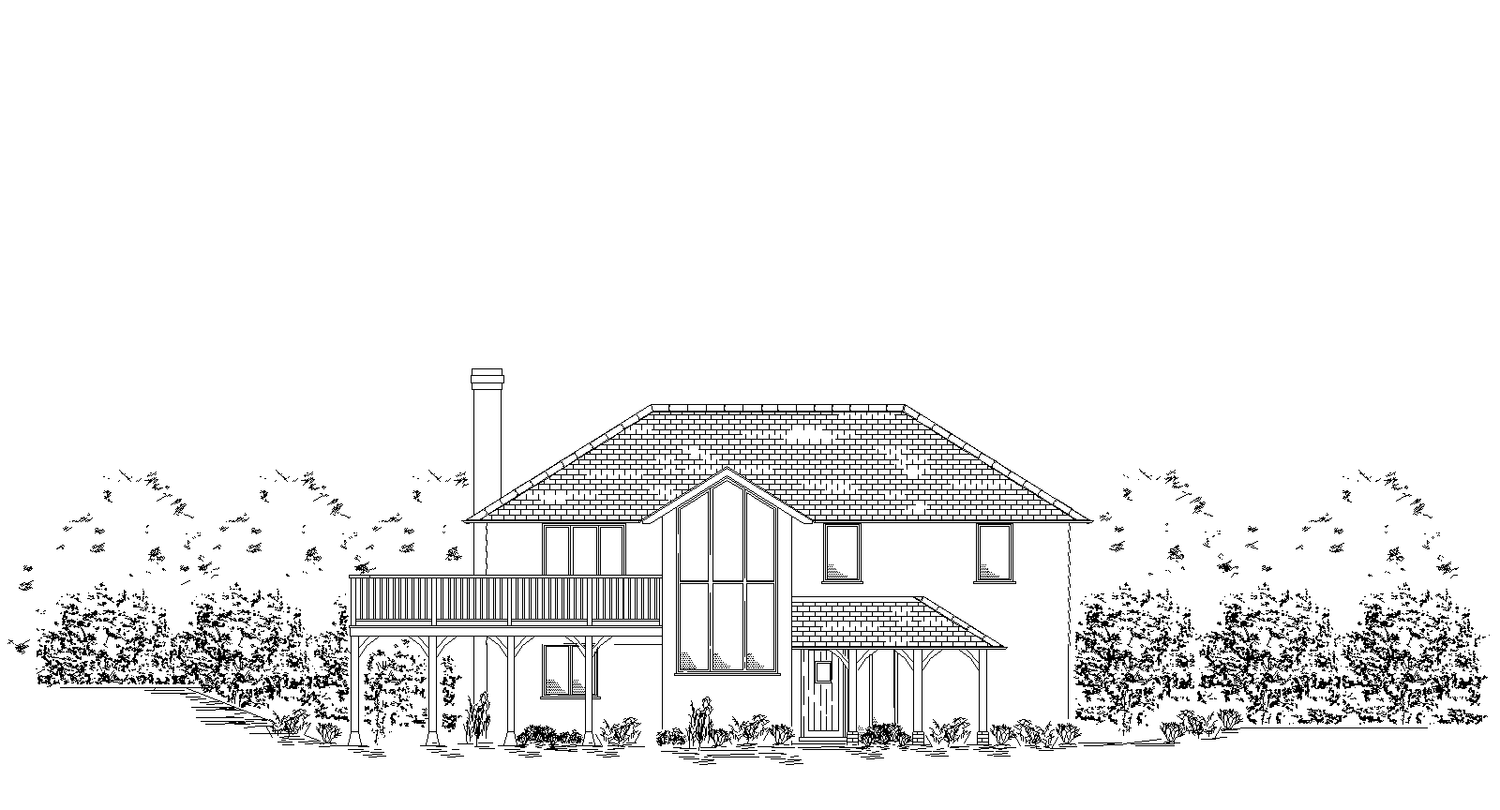 Elevation of new dwelling for planning permission.