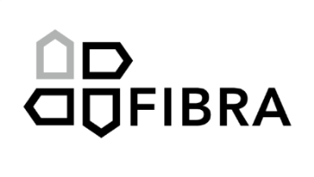 A logo for a building company making modular houses out of fibres.