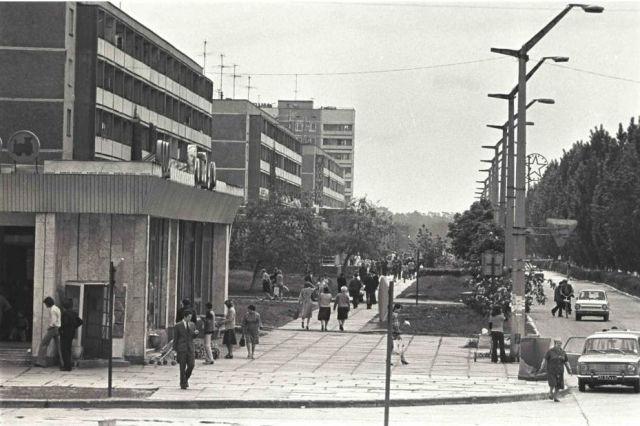 ⎯ Pripyat. Main road before the disaster.
