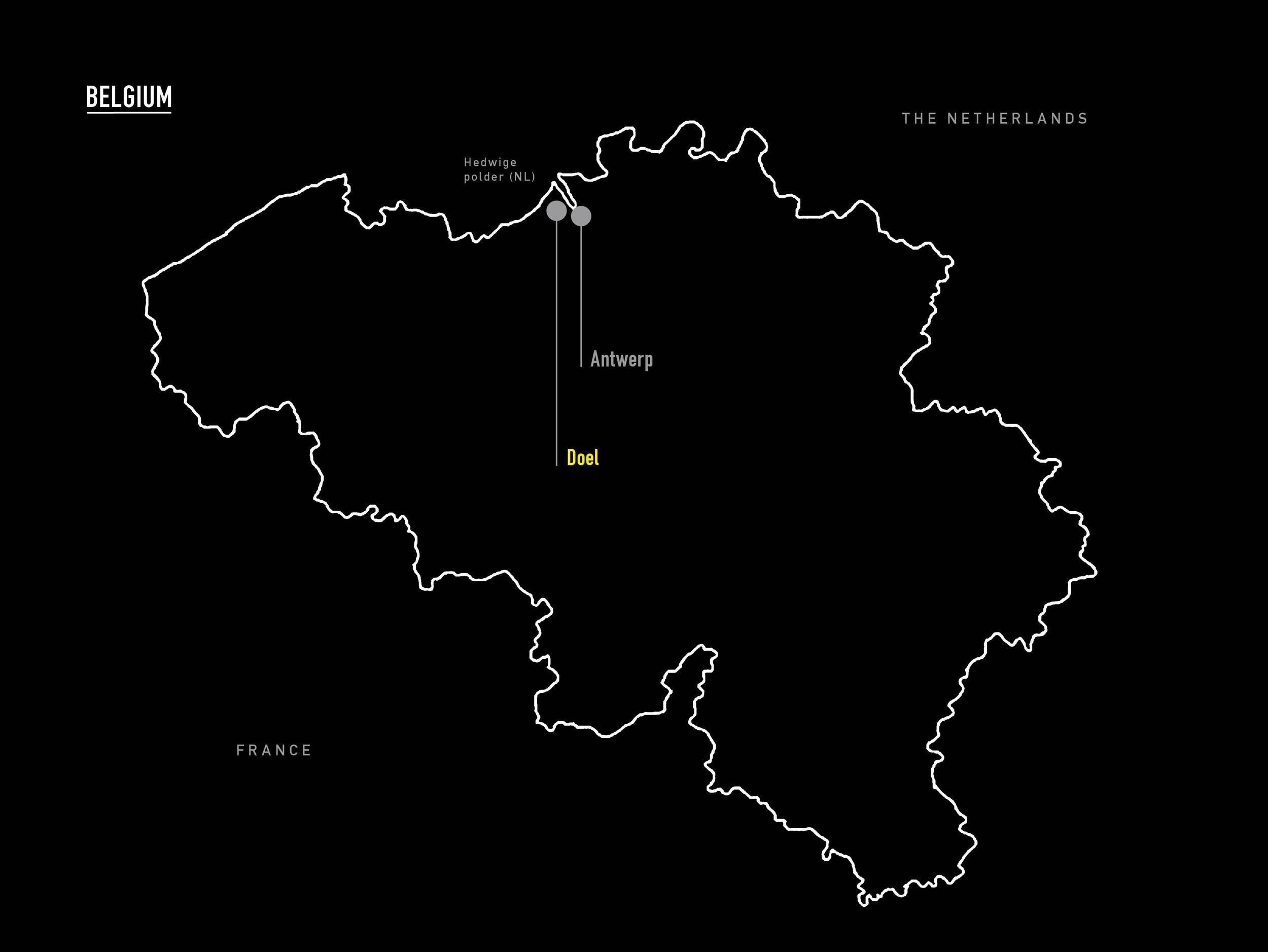 ⎯ Map of Belgium.
