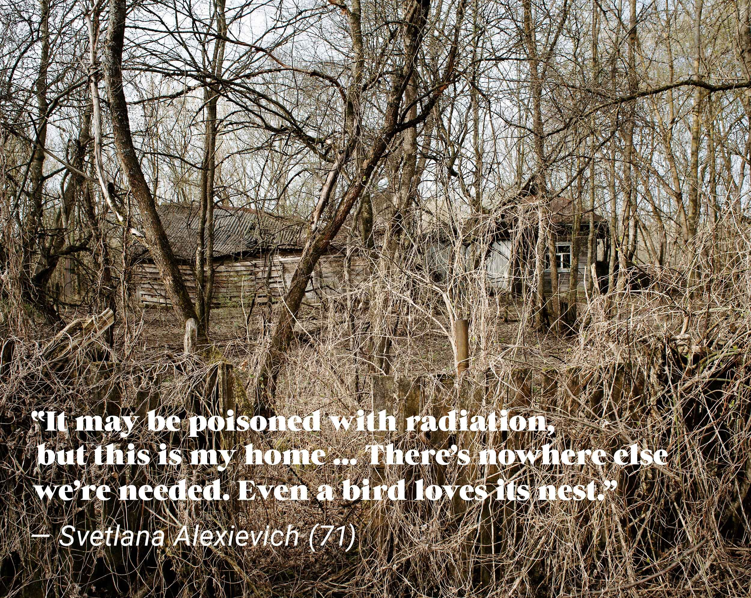⎯ Abandoned home in the Chernobyl (Chornobyl) Exclusion Zone.
