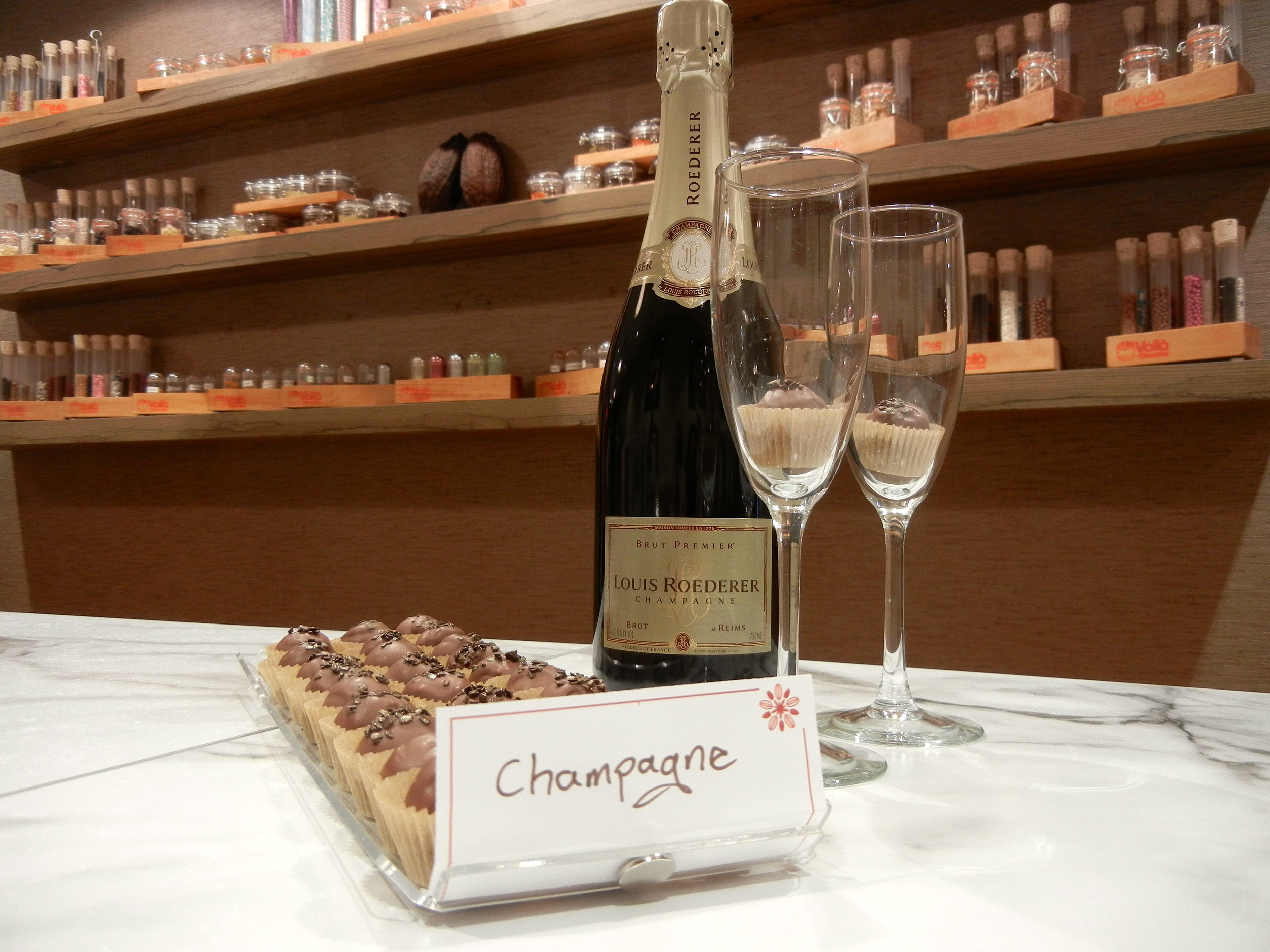 Champagne and champagne truffles