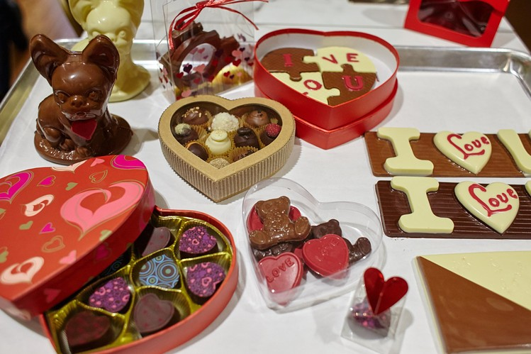 Valentine Day's goodies galore, created by master chocolatier Christophe Toury. STEVE REMICH FOR THE WALL STREET JOURNAL