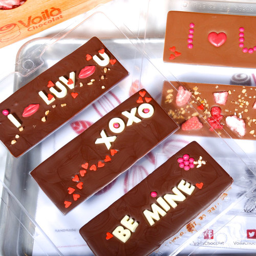 Very expressive chocolate bars. Expect your beloved to say these things to you after tasting them.
