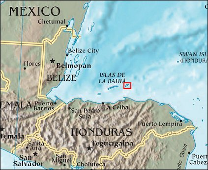 The 1502 encounter happened at the Caribbean island of Guanaja, off the coast of modern day Honduras.