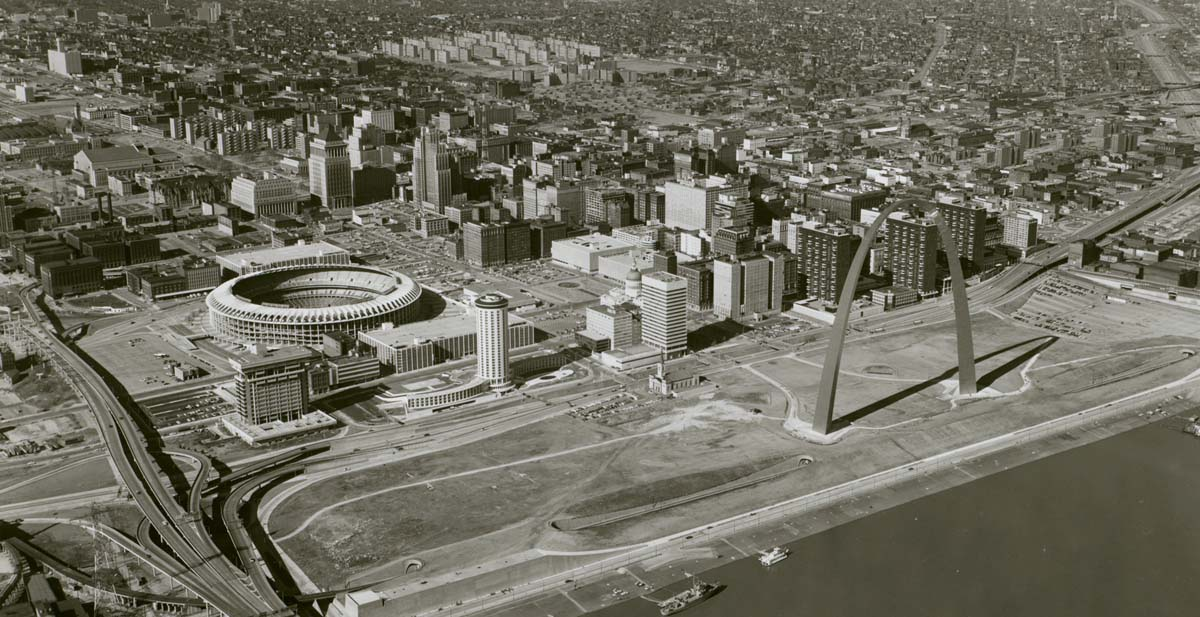 Downtown St. Louis in 1969. Missouri   History Museum   .
