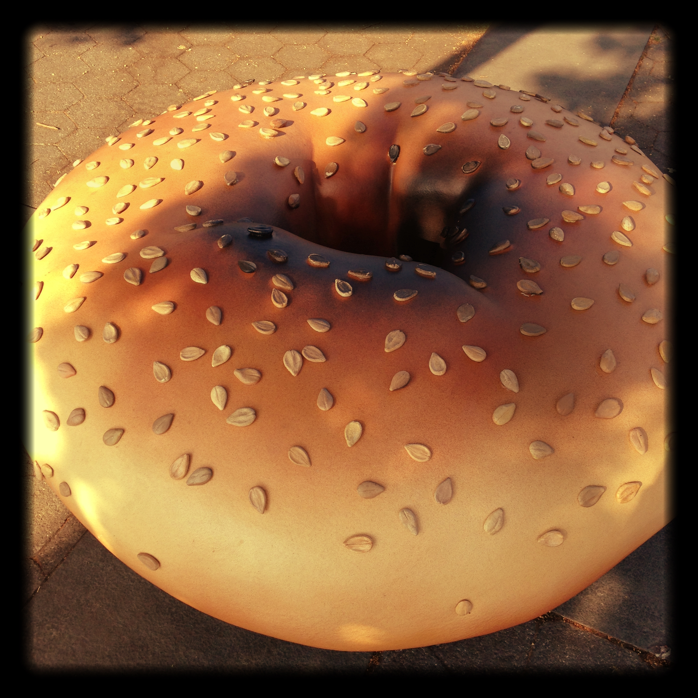 Bagel Sculpture by Hannah Liden, Hudson River Park
