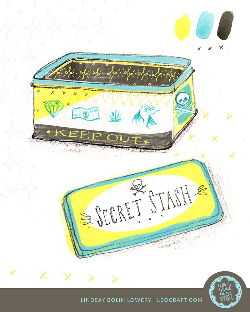 MAKE ART THAT SELLS BOOTCAMP 2018: This was my design for the first assignment, to design a tin!