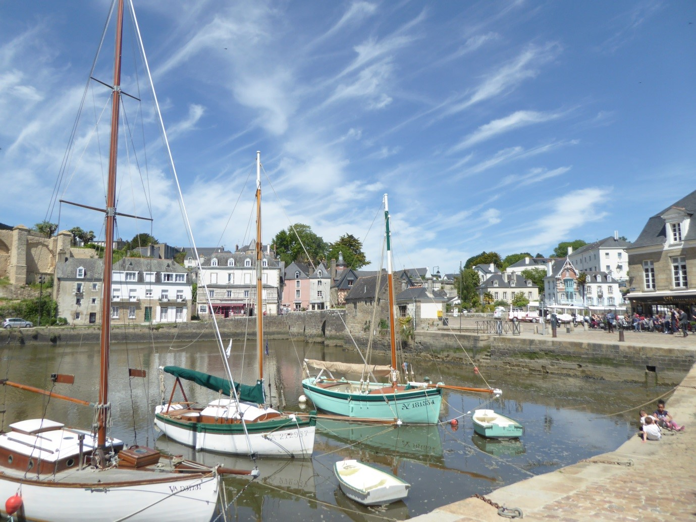 - Auray (pictured in spring time) is one of many local beautiful towns to wander round and explore, with cafes and restaurants clustered around the lovely old port, so many art galleries, and peaceful cobbled streets.