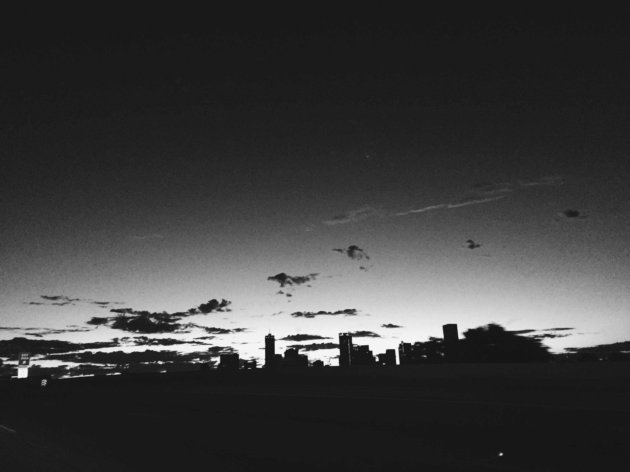 Denver at sunrise en route to the welding shop.