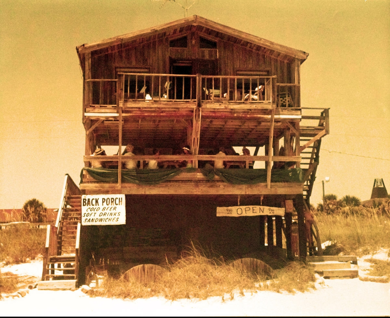 The Back Porch in Destin, circa 1974