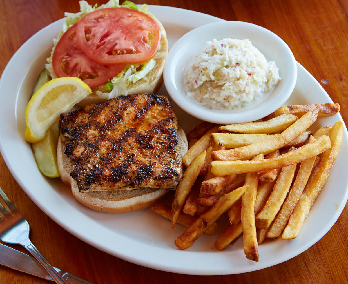 Chargrilled Amberjack Sandwich