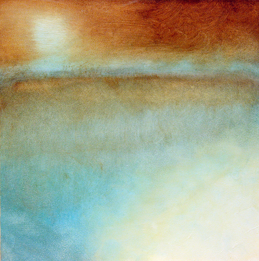 "Psyche's Task II  6"" x 6"" Oil on wood"