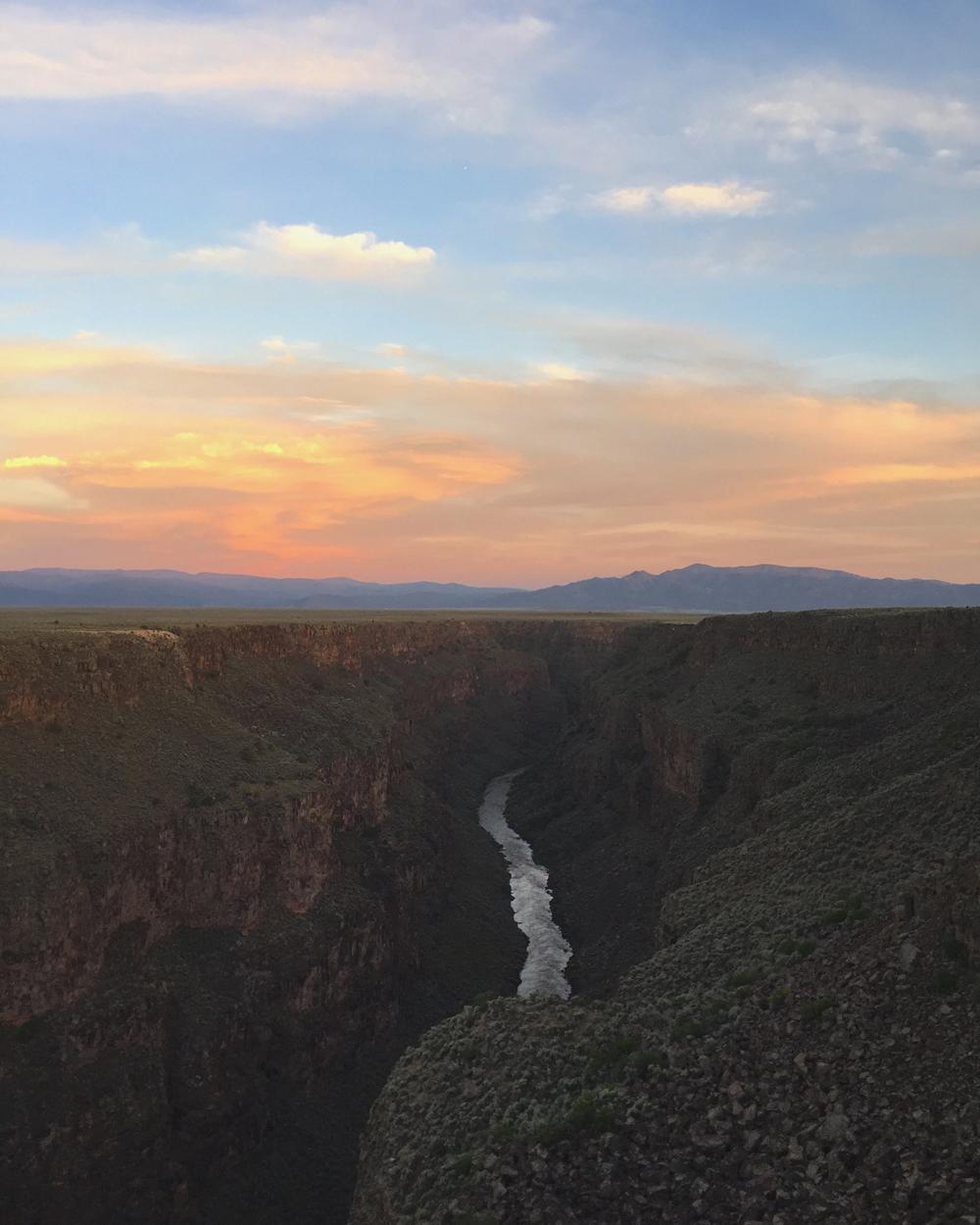 The Rio Grande Gorge, water through rock