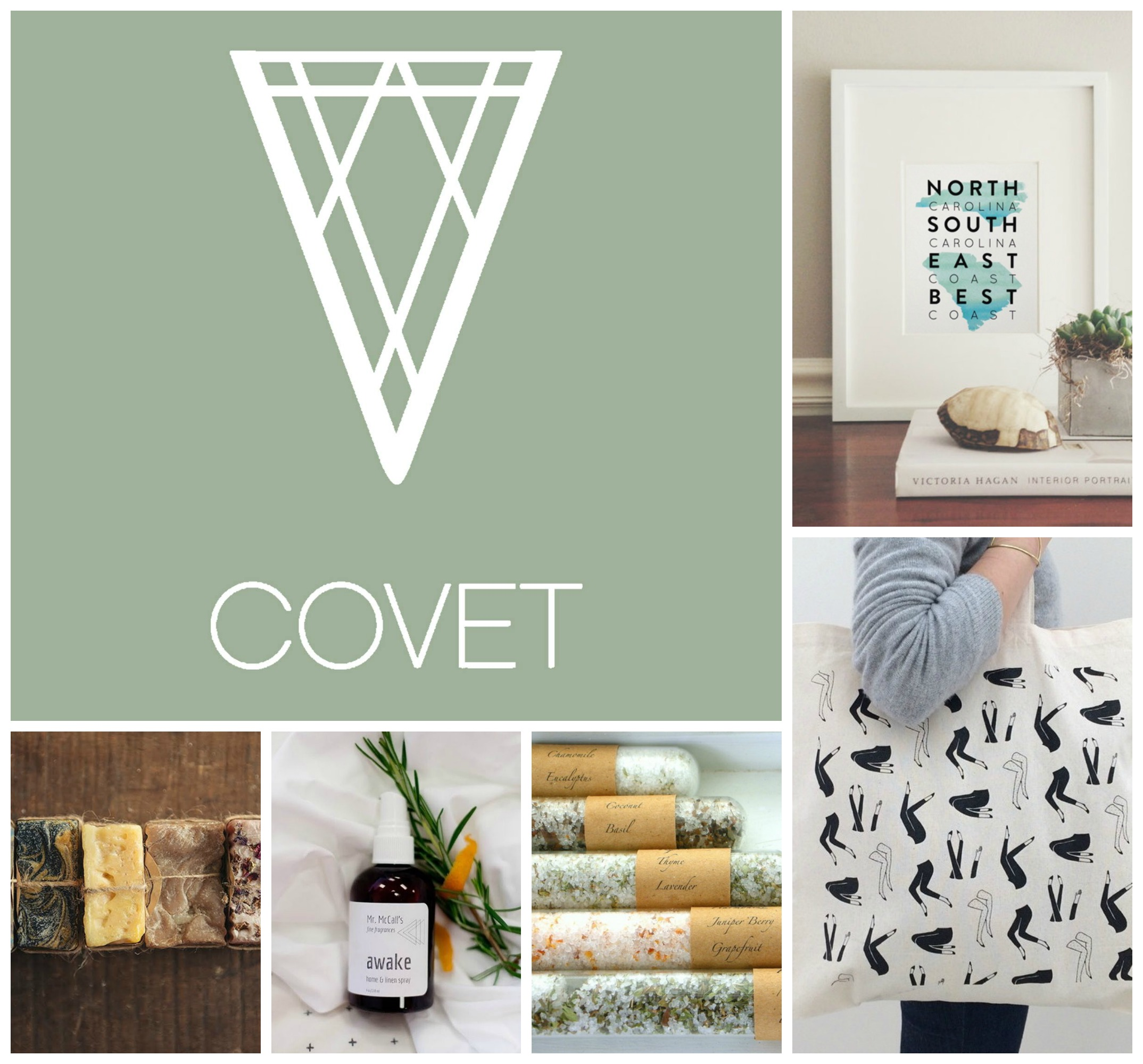 Some of the wonderful things you can get with your Kickstarter pledge to  Covet: A Carolina Atelier