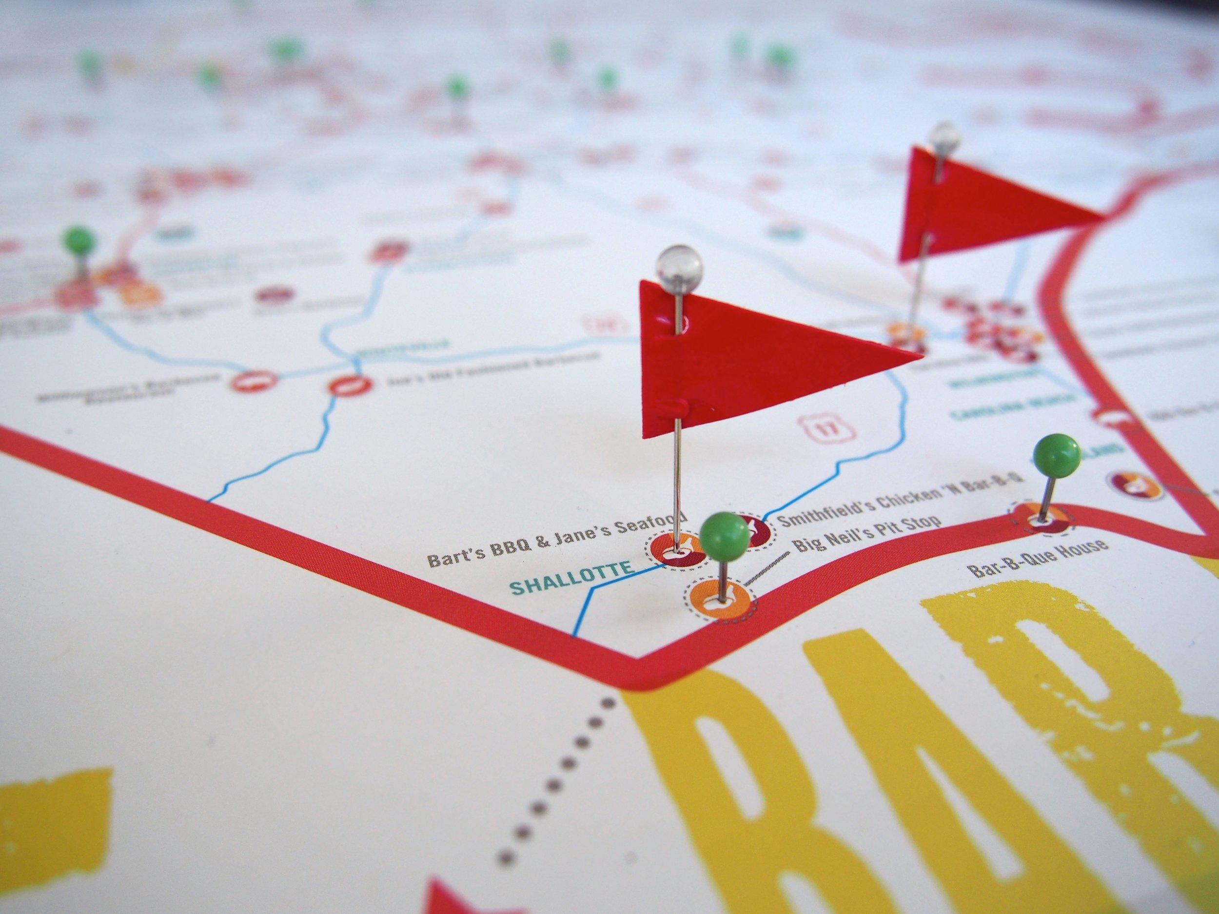 Great NC BBQ Map >> ediamaps.com